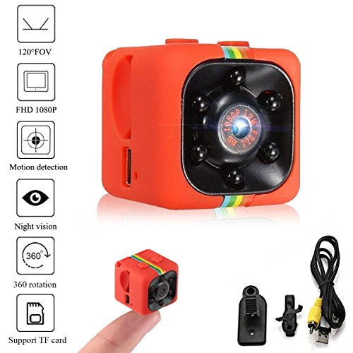 Crazepony-UK Mini Camara Espias SQ11 Camcorder 3.6mm Night Vision FOV140 Mini Camera Spy 1080P HD Sports Micro Camera DVR Video Recorder by (Plastic Shell)