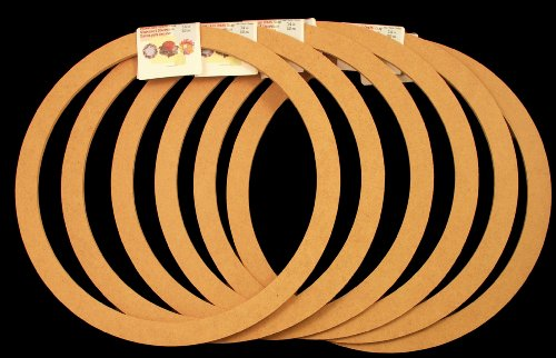 "6 Pack, Biodegradable Floral Craft Ring, 14"" Ez Wrap Poly Mesh Center Piece Wreath Form, for Photo Frame, Candle Ring, Mobile, Dream Catcher Etc"