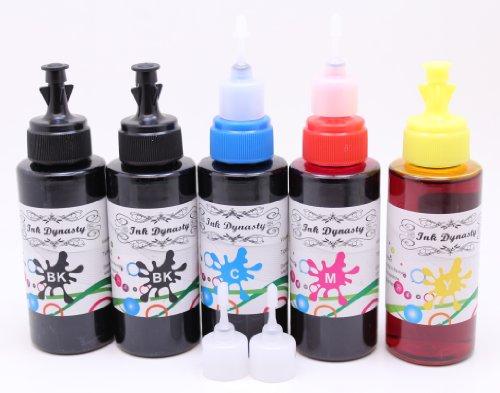 Ink Dynasty 500ML UV Resistant Dye Ink Refill Kit for Refillable Cartridge Epson XP200 XP300 XP310 XP400 CIS Refillable CIS CISS - Black, Cyan, Magenta, Yellow