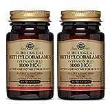 Solgar Methylcobalamin (Vitamin B12) 1000 mcg, 60 Nuggets - Pack of 2 - Supports Energy Metabolism - Active Form of Vitamin B12 - Non-GMO, Vegan, Gluten Free, Dairy Free, Kosher - 60 Servings