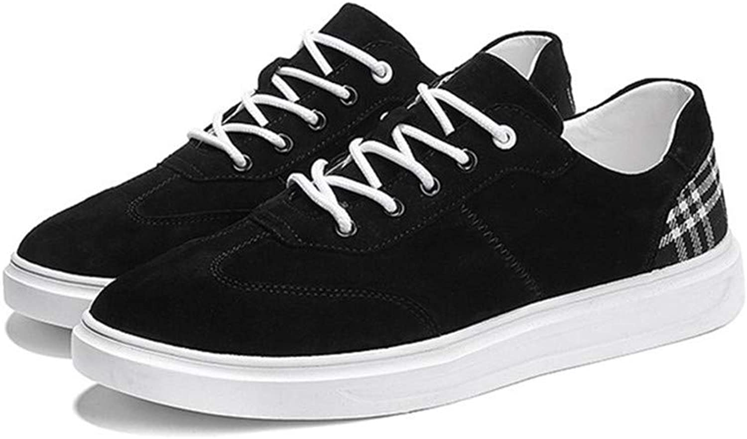 Casual Men's shoes Pig Skin Black Four Seasons Can Wear Board shoes Leisure