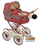 Saica Gorjuss Carro muñecas clásico, Color Granate (1)