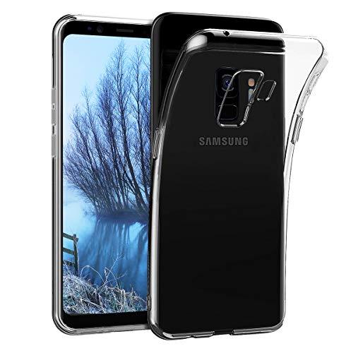 CRXOOX Cover per Samsung Galaxy S9 Protezione Cover Silicone Case Molle di TPU Protezione Protettiva Anti-Urto Anti-Graffio Sottile Custodia per per Samsung Galaxy S9 Trasparente