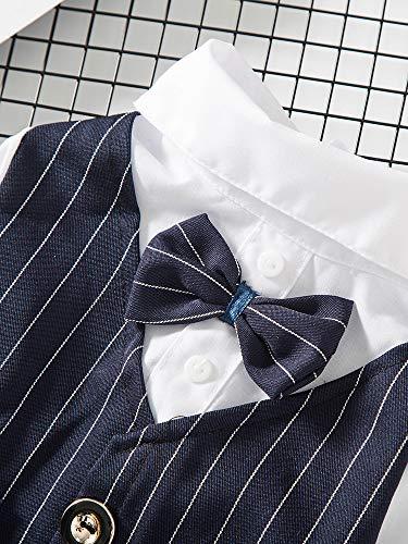 JIUI Hond Kostuum Mode eenvoudige en comfortabele dunne sectie knoop pak zomer, L, marineblauw