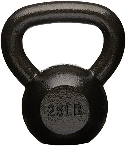 AmazonBasics Cast Iron Kettlebell - 25 Pounds, Black
