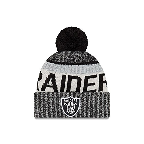 New Era Oakland Raiders 2017 On-Field Sport Knit Beanie Hat/Cap