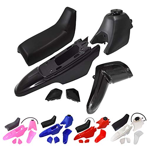 munirater Plastic Fender Body Seat Gas Tank & Seat With Screws Replacement for Yamaha PW50 PY50 PW 50 Blue red black pink white