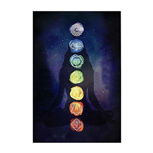 Collecsound Rainbow 7 Chakra Mandala Manta Bohemia Tapiz Verano Playa Toalla Esterilla Yoga