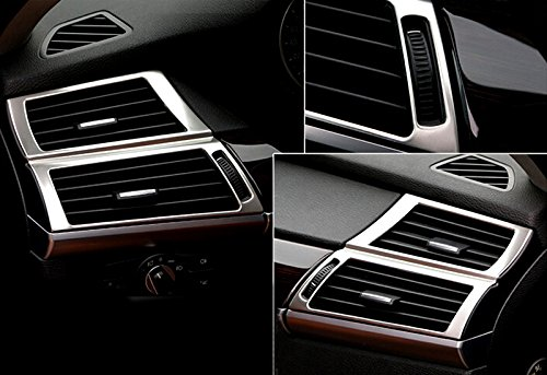 YUZHONGTIAN HIGH Flying for BMW X5 E70 07-13, X6 E71 08-14 Stainless Car Inner Dashboard Air Outlet Vent Covers Decorative Trimming 2pcs