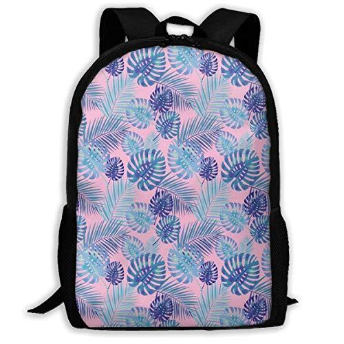 KDRW Adult Travelc Laptop Rucksack, Hipster abstrakte Geometrie Muster weiß blattähnliche ovale Form hypnotische Symbole, College School Computer Bookbag