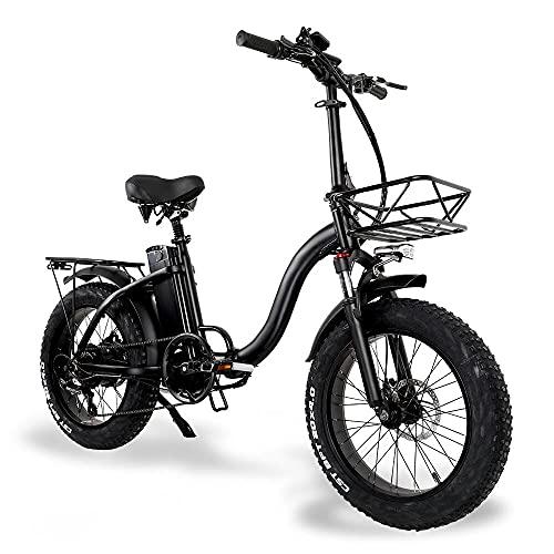 20' Velo Electrique Pliant Femme, 48V 15Ah Batterie Li-ION Amovible, 2021 Upgrade Vélos électriques pour Femmes Adultes[EU Warehouse]