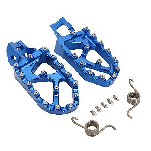 JFG RACING Pedales de pie ancho CNC para motocicleta K.T.M 85-500 SX XC-W EXC-F SX-F XC 15-20 TC85 TC125 FC250 FE350 TE150 FS450 TX300 FX350 16-20-Azul