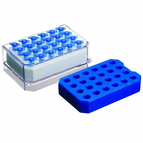 Eppendorf 022510541 Pink Polycarbonate PCR-Cooler Iceless Cold Pack, 96 Well PCR Plates, Strips and Tubes