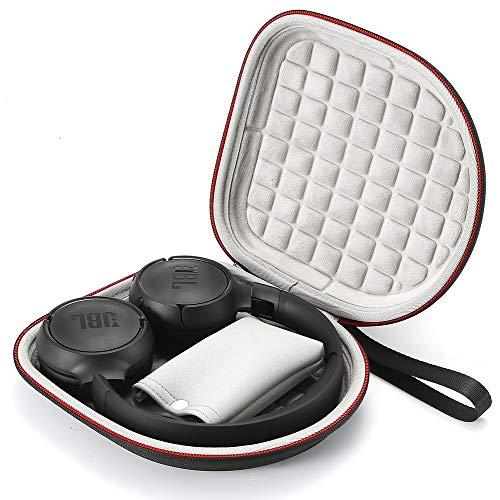 Estuche rígido para JBL T450BT / JBL T500BT sobre Oreja Auriculares inalámbricos Bluetooth, Bolsa Protectora de Viaje para Viaje - Negro(Forro Gris)