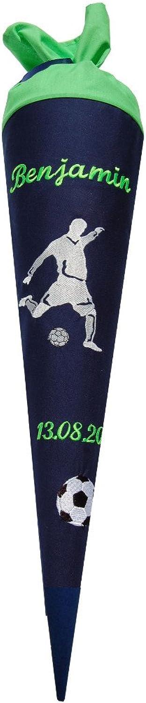 Lieblingsstücke - Sandra Wilps Schultüte Fußballer mit mit mit Namen und Datum - wandelbar in EIN Kissen B01DOIC976 | Qualität Produkt  75435b