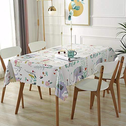 Yinaa Mantel Mesa Rectangular Impermeable Resistente Al Desgaste Anti Escaldado para Comedor Cocina o Salón Azul 90×150cm