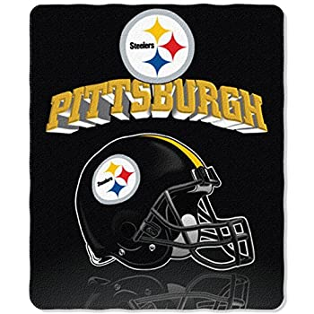 NFL Pittsburgh Steelers Gridiron Fleece Throw 50-inches x 60-inches