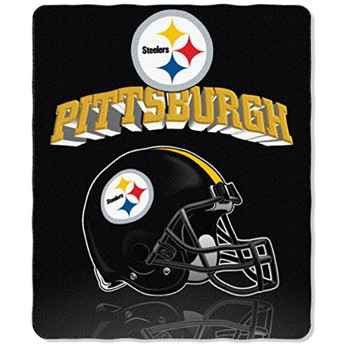 NFL Pittsburgh Steelers Gridiron Fleece Throw, 50-inches x 60-inches