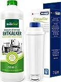 Juego de mantenimiento antical 750 ml y filtro de agua DLSC002 – Compatible con cafeteras automáticas Delonghi