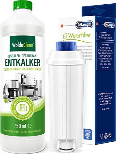Pflegeset Entkalker 750ml & Wasserfilter DLSC002 - kompatibel Delonghi Kaffeevollautomat