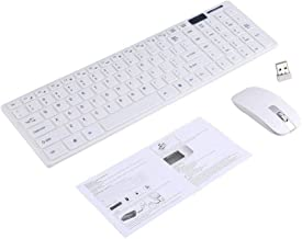 Yoidesu 2.4GHz Wireless Keyboard and Mouse Combo Kit PC Computer Ultra Slim Keyboard with Mice Designed for Office and Hom...