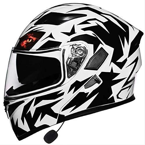 Casco Modular De Motos,Casco De Moto Con Bluetooth Integrado ECE Para Patinete Electrico Motocicleta Bicicleta Scooter Con Gafas De Doble Protección Mujer Y Hombre 1,M=(57~58CM)