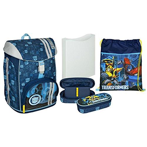 Scoolie FlexMax Transformers Schulranzen Set 5-tlg Schulrucksack mit Zubehör
