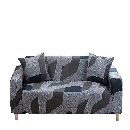 Funda de sofá con Todo Incluido Patrones geométricos Fundas Fundas de sofá elástico con Estampado Moderno Protector de Muebles Funda de sofá seccional Forma de L,Colour1,2 Seater 145-185cm