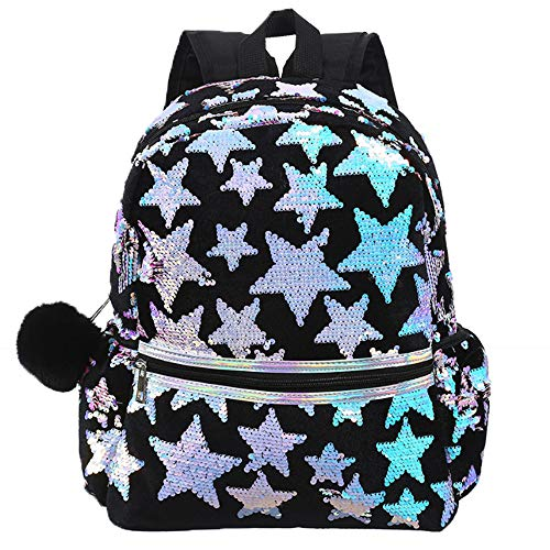 Women Fashion Star Flip Sequin Backpack Girls Magic Mermaid Backpack Sparkly Glitter School Bag