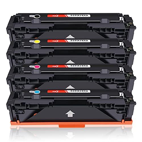 Compatible Adecuado para HP HP CF500A 202A Cartucho de tóner M254DW / NW M280 M281FDW / Tóner FDN (Magenta Amarilla Cian Negro, 4 Paquete)