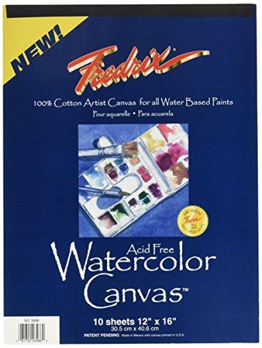 Tara Materials Fredrix 12x16 Watercolor Canvas Pad