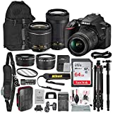 Nikon D3500 DSLR Camera with with 18-55mm and 70-300mm Lenses + 64GB Card, Tripod/Monopod, Battery, and Platinum Bundle