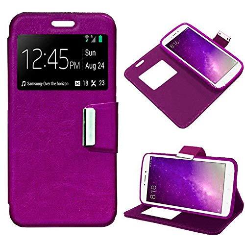 Mb Accesorios Funda Tapa Libro Rosa para Xiaomi Mi MAX 2 - Interior. Silicona