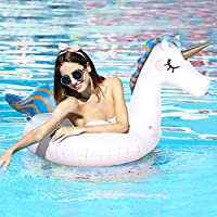 Sable Inflatable Unicorn Pool Float for Swimming Fun, Support 220 lbs