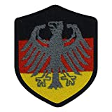benobler FanShirts4u Aufnäher - Deutschland/B&esadler - Wappen - 7 x 5,6cm - Bestickt Flagge Patch Badge Fahne Germany (Schwarze Umrandung)