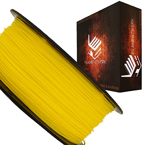 Filamentwerk 3D-Drucker PET-G 1,75mm 1kg Spule Rolle (Neon Gelb)