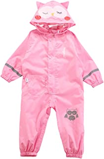 LHY- Raincoat Kids Siamese Raincoat Spring and Summer Cartoon boy, Baby, Kid, Breathable Poncho Convenient (Color : Pink, Size : M)
