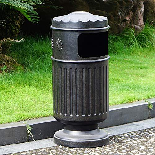 Botes de basura La basura al aire libre puede fundir el panel empotrado de aluminio de la basura el papel de basura de metal individual al aire libre con el panel decorativo, 10.5 galones Bote de basu