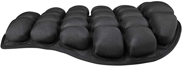 Air Motorcycle Seat Cushion Pressure Relief Ride Seat Pad Large for Cruiser Touring Saddles, Shock Absorption, Water Inflatable (Black)