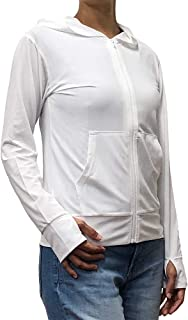 BUGOFF(バグオフ) 着る虫よけ UVメッシュパーカー 白 レディース用 防虫 衣類 BO1707