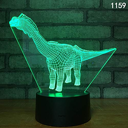 Wylolik LED Night Light for 3D Kids Glowing Toy Dinosaur Remote Control Switch Seven Color Conversion Baby Night Light Moon Star Projector 360 Degree Rotation Decorative Bedroom