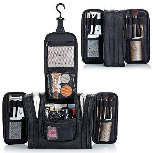 Lizzton Hanging Travel Toiletry Bag for Women & Men, Extra Large Makeup Organizer Cosmetics Bags, Water Resistant Dopp Kit Shaving Bag, Multifunctional Bathroom Shower Toiletries Organizer