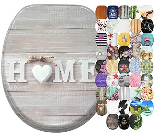 Abattant WC Frein de Chute Soft Close - Grande sélection - Finition de Haute qualité - Fixation Facile (Home)