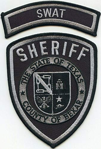 Shoulder Patches for Man & Woman Bexar County Texas TX with Rocker SWAT Sheriff Police Patch