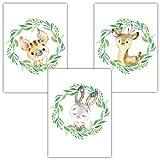 Frechdax® 3er Set Kinderzimmer Babyzimmer Poster Bilder