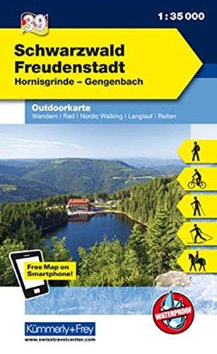 Deutschland Outdoorkarte 39 Schwarzwald Freudenstadt 1 : 35.000: Hornisgrinde-Gengenbach. Wanderwege, Radwanderwege, Nordic Walking, Skilanglauf (Kümmerly+Frey Outdoorkarten Deutschland)