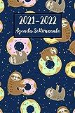 Agenda Settimanale 2021-2022: Bradipo Agenda 2021-2022 | Calendario, Diario, Formato A5 (6x9) - regali di Bradipo