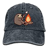 Presock Barbecue Fire Sloth Adult Cowboy Hat Baseball Cap Adjustable Athletic Custom Gifts Hat for Men and Women