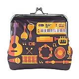 Strumento musicale portafoglio portamonete vintage sacchetto di moda PU cuoio titolare della carta dei soldi per donne ragazze ragazzi adolescenti bambini