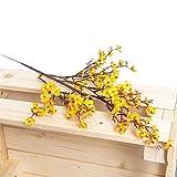 Flores Artificiales Decoracion jarrones - Ramos de Flores secas largas Decorativas Artificiales - Centro de Mesa Decorativo Moderno - Decoracion hogar Salon